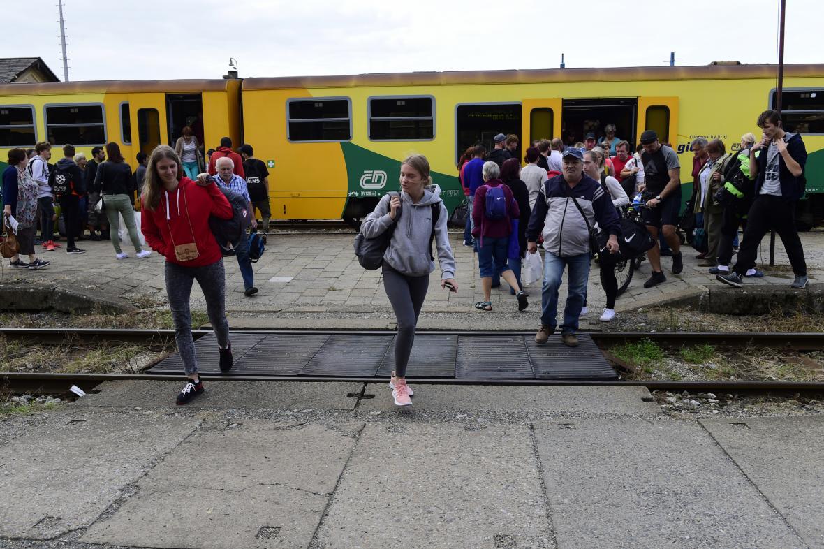 Vlakové nádraží ve Šternberku na Olomoucku