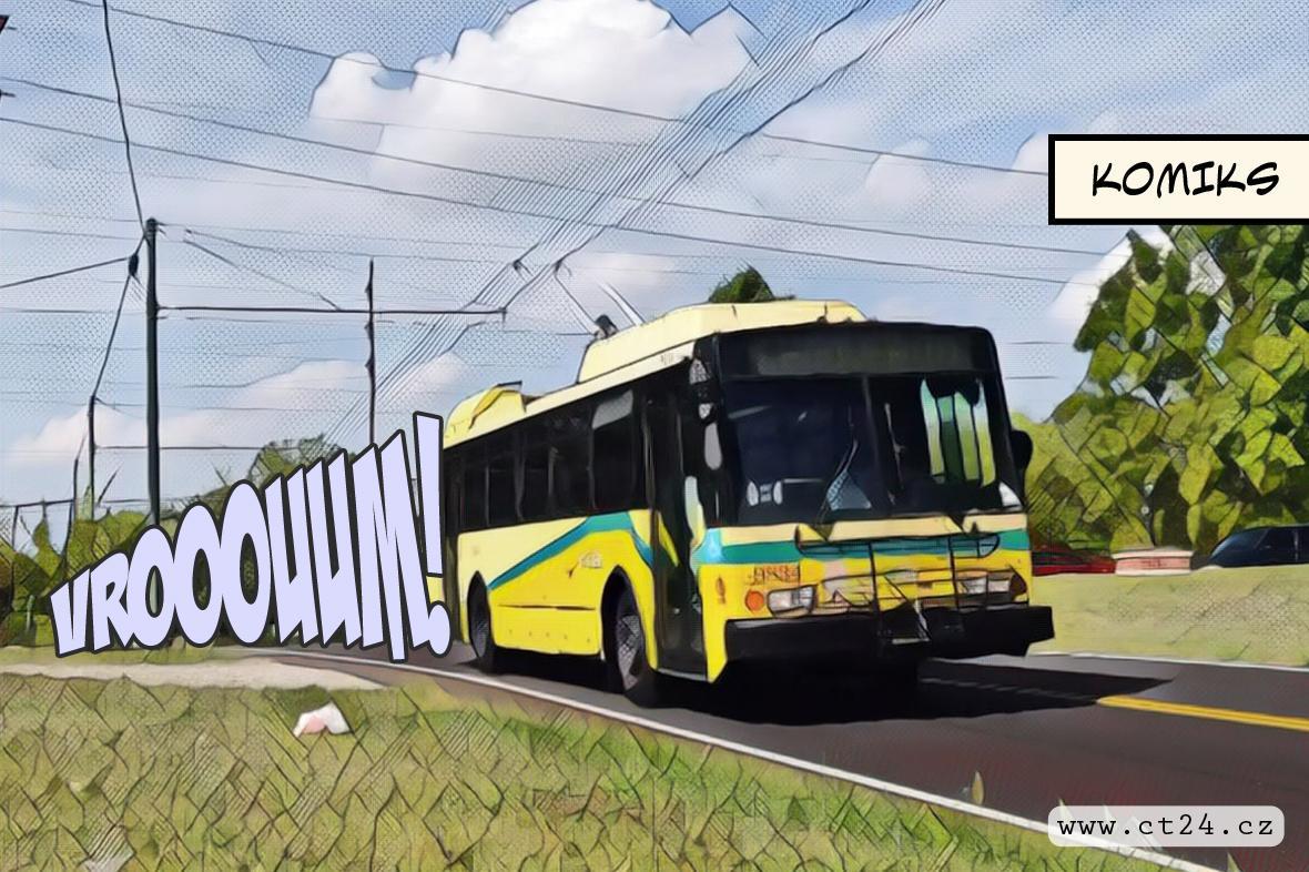 Český trolejbus se vrací z Ameriky