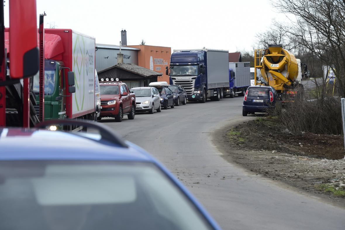 Dopravní komplikace v Přerově