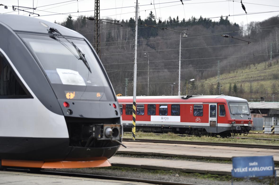 Vlaky Arrivy ve Vsetíně
