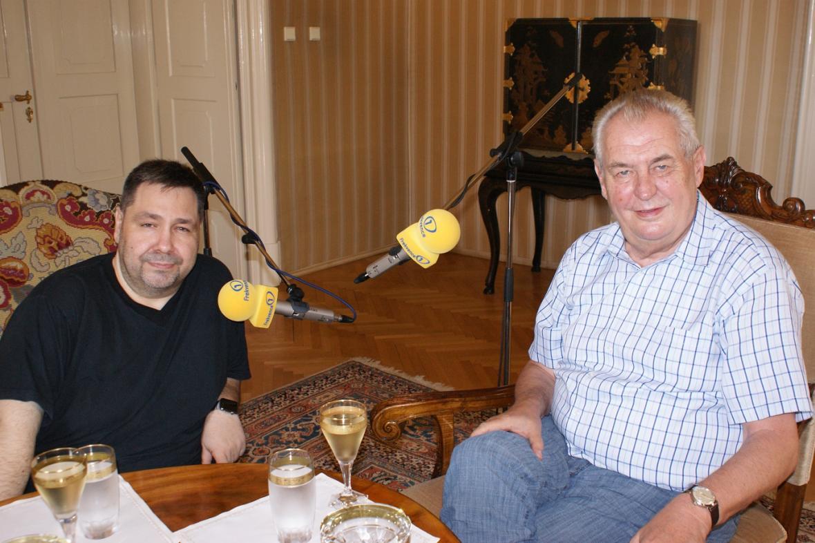 Miloš Zeman s Lubošem Xaverem Veselým