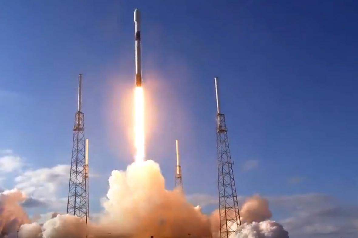 Start mise SpaceX