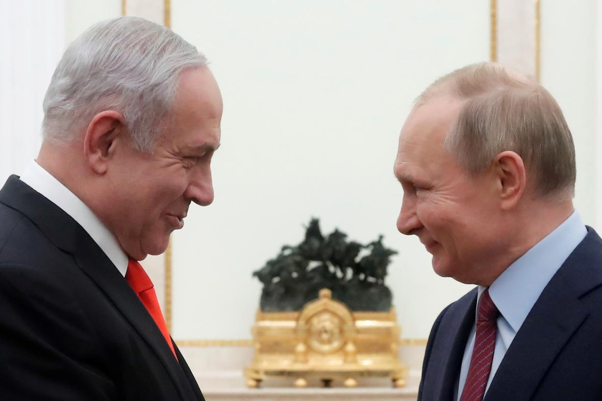 Izraelský premiér Benjamin Netanjahu s ruským prezidentem Vladimirem Putinem