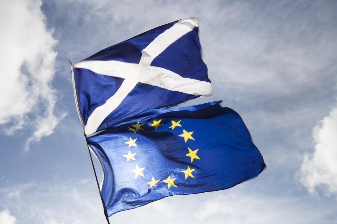 Vlajka Skotska a Evropské unie