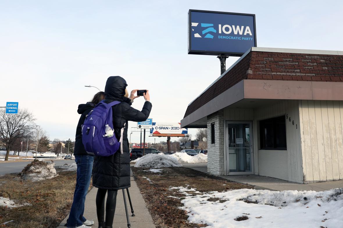 Novináři sledovali primárky demokratů v Iowě