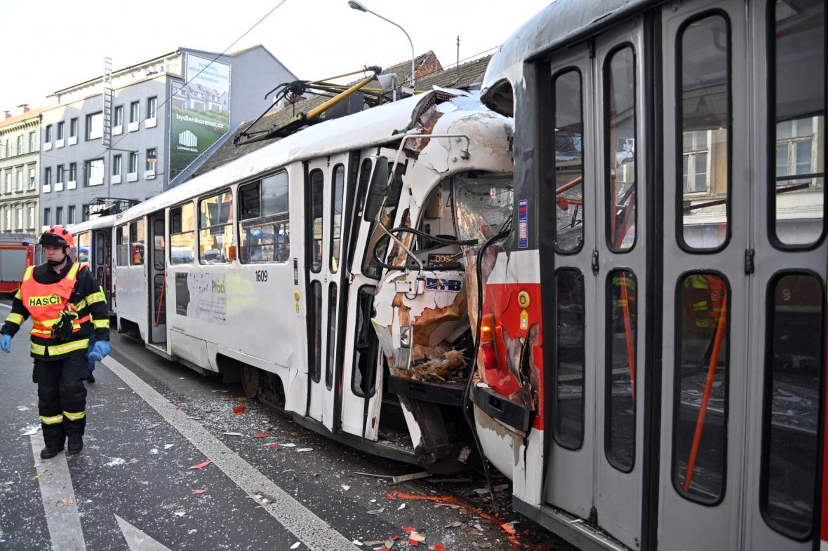Nehoda tramvají v Brně