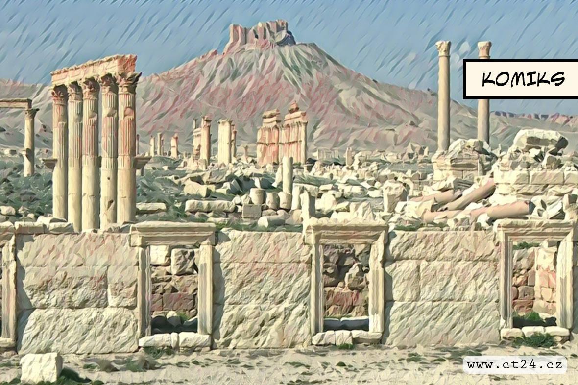Obnova poničených artefaktů z Palmýry