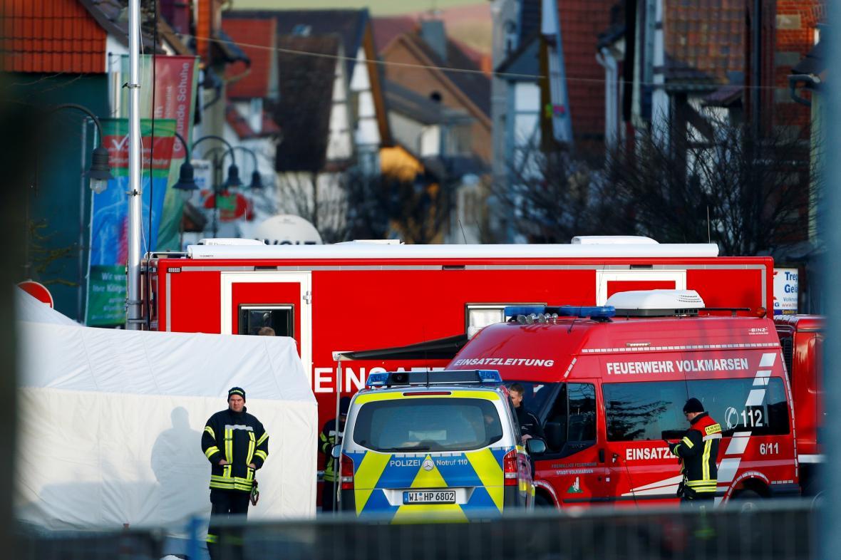 Policie na místě činu ve Volkmarsenu