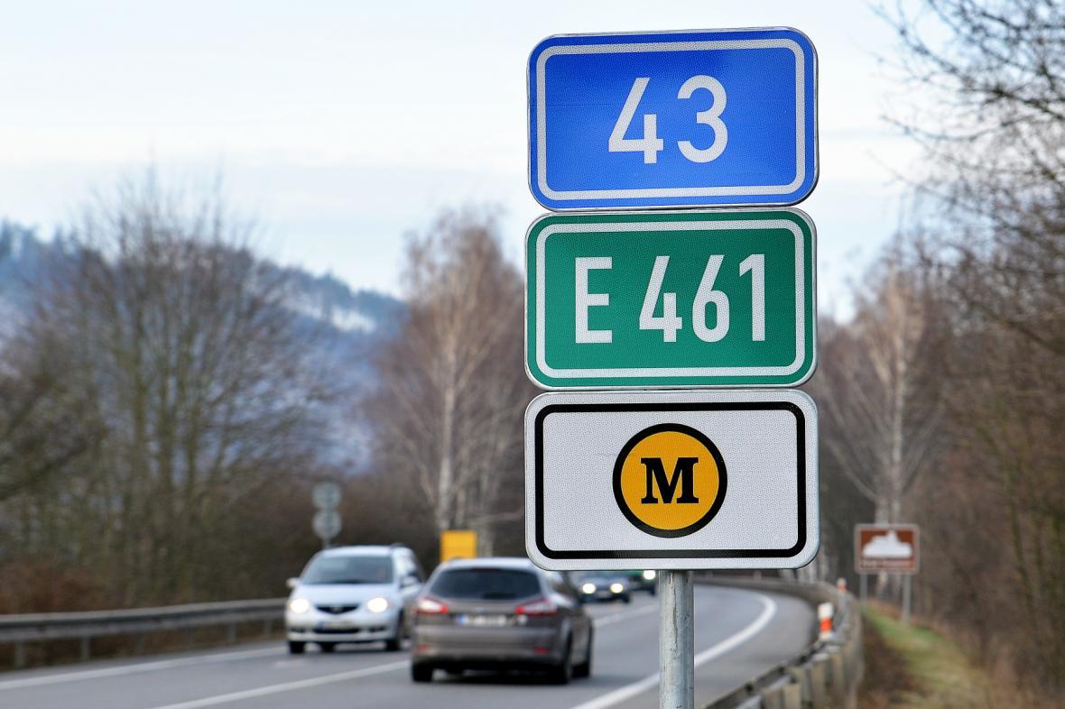 Silnice I/43 spojuje Brno a Svitavy