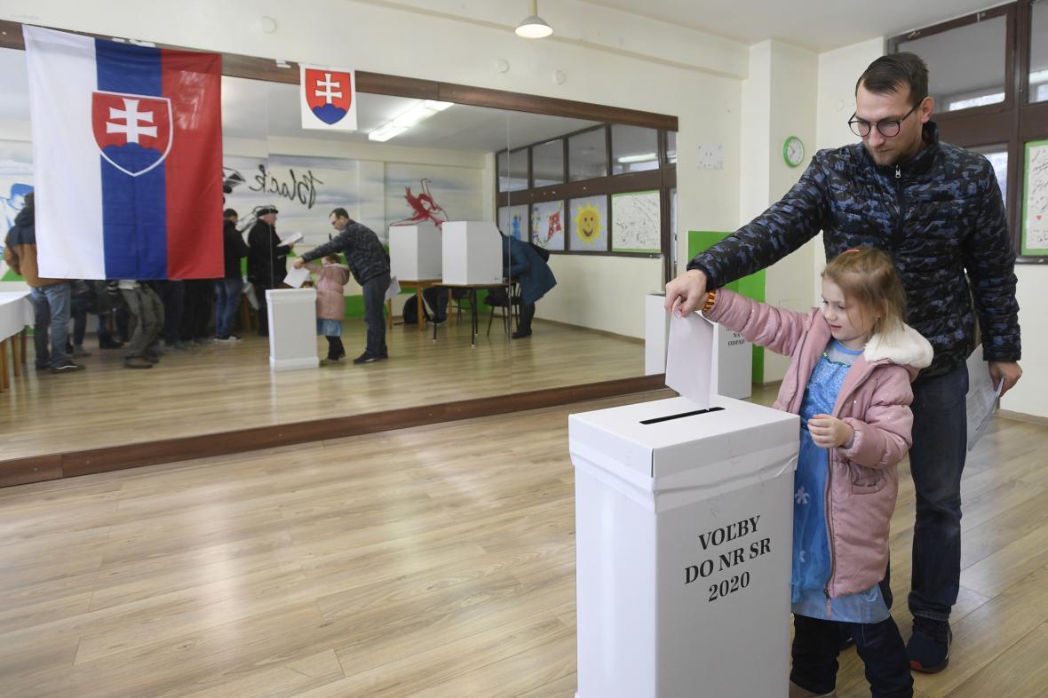 Volební místnosti v Trnavě