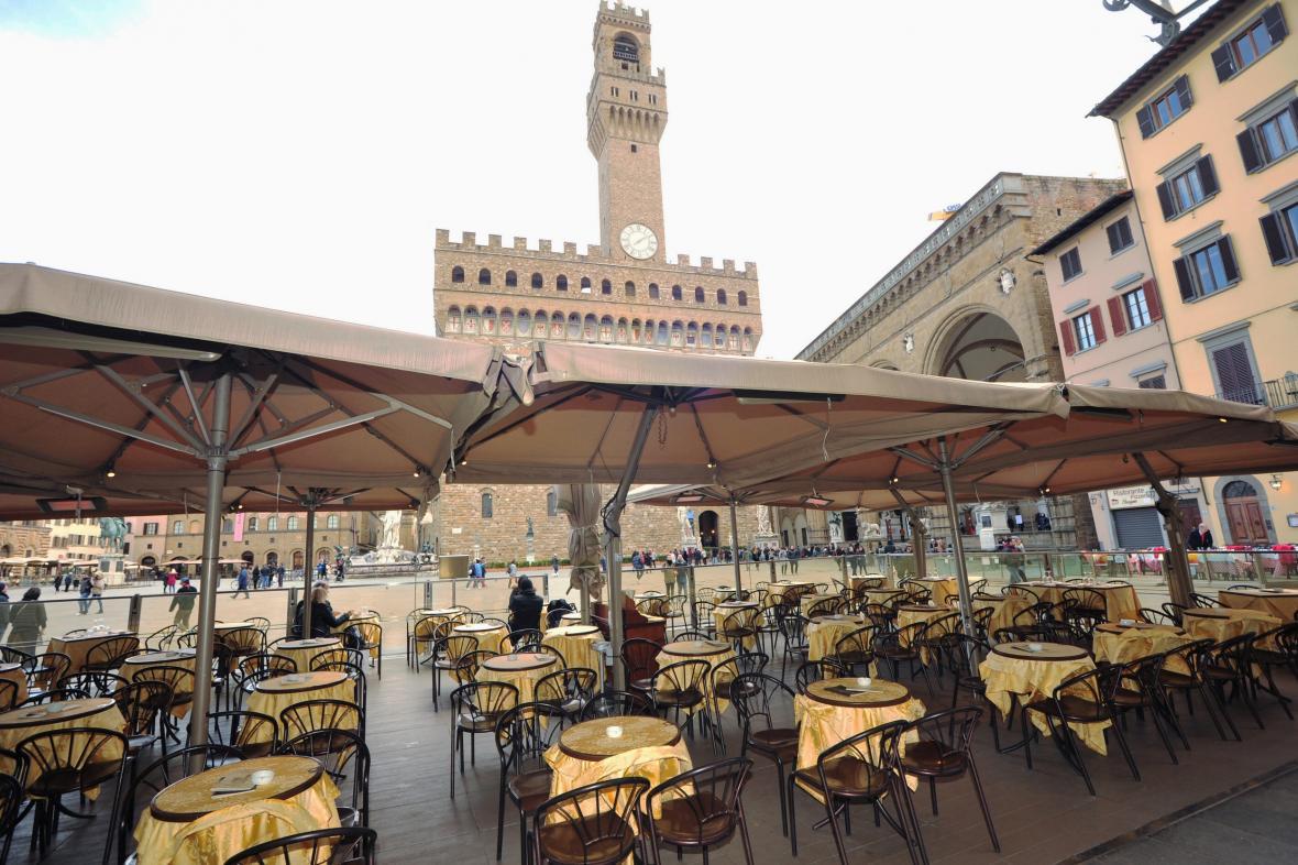 Centrum Florencie je kvůli koronaviru prázdné