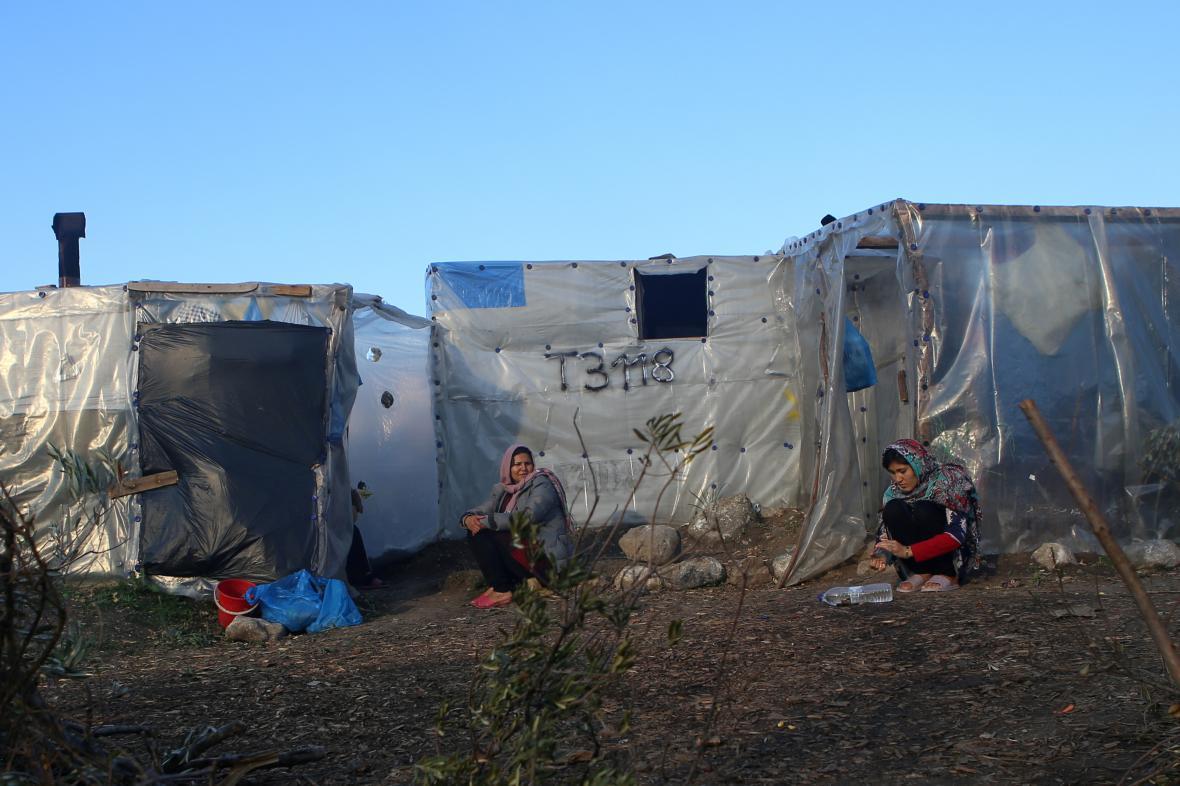 Tábor běženců na Lesbu