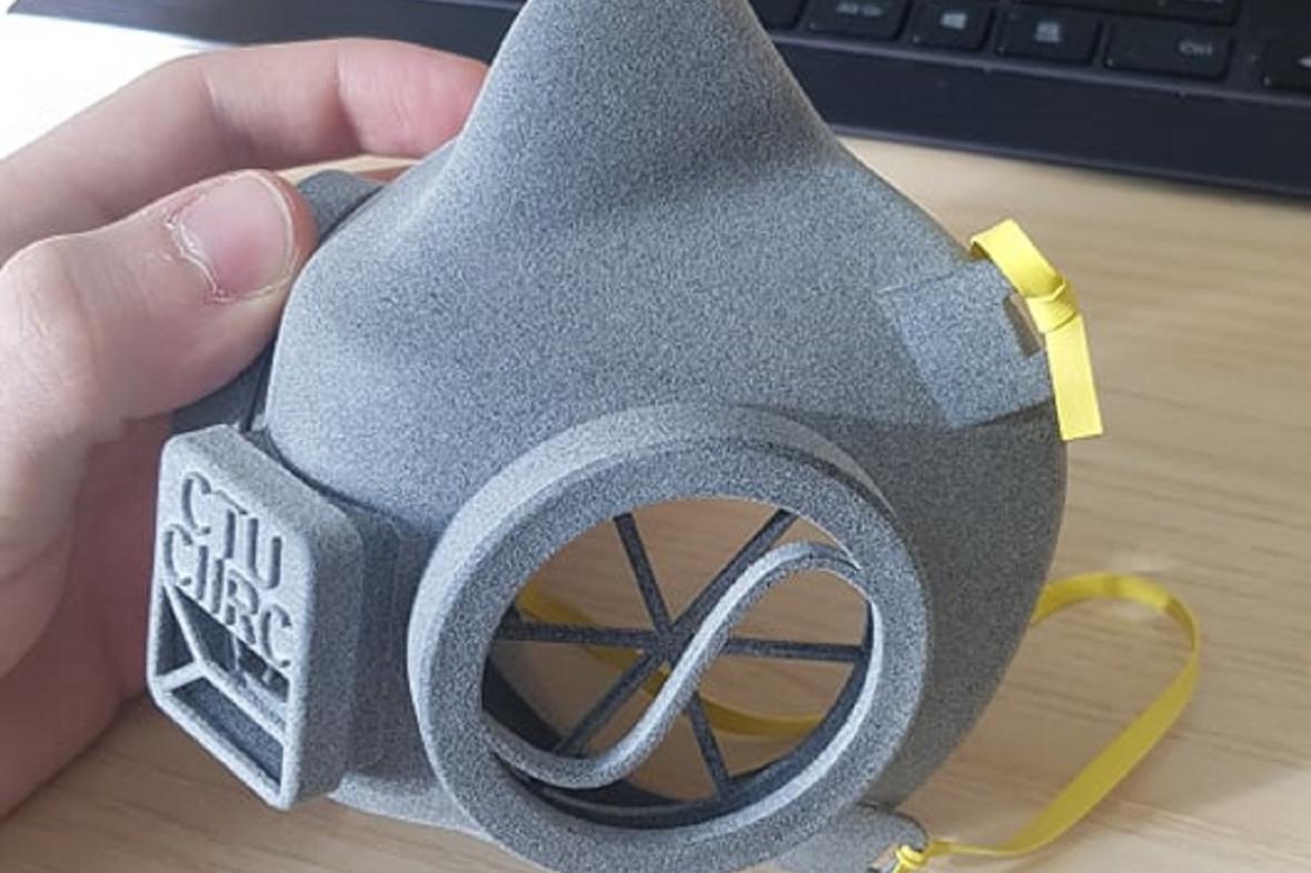 Prototyp masky z CIIRC ČVUT