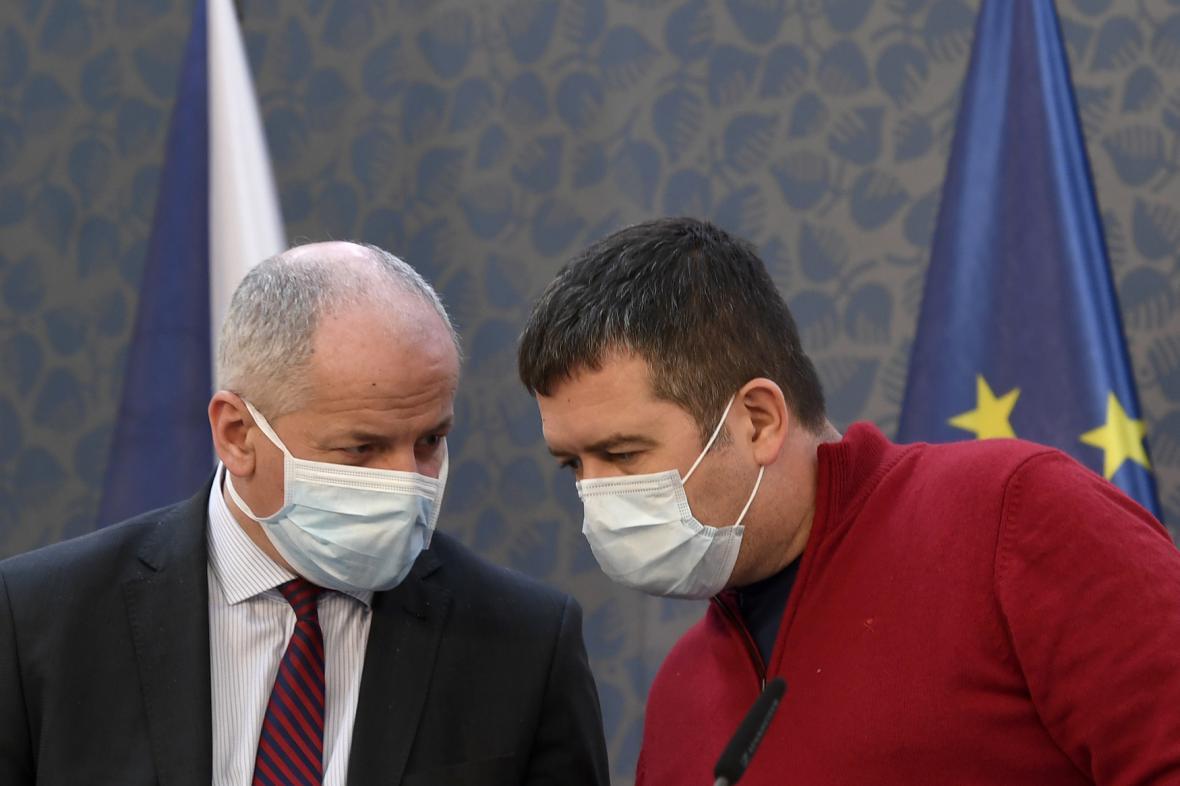 Roman Prymula a Jan Hamáček