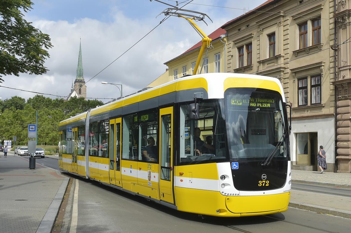 Nová tramvaj v Plzni