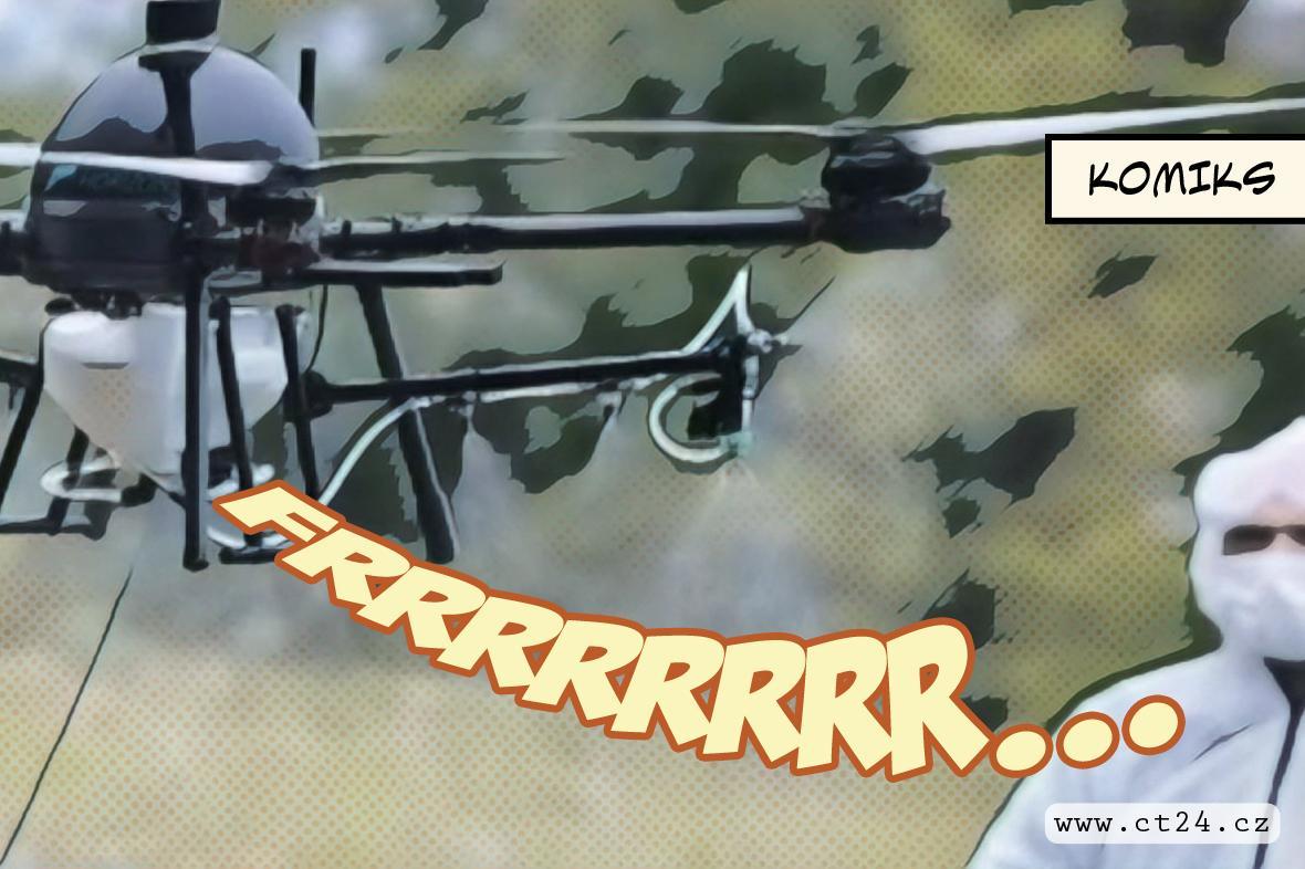 Drony dezinfikují v Brně veřejná prostranstv