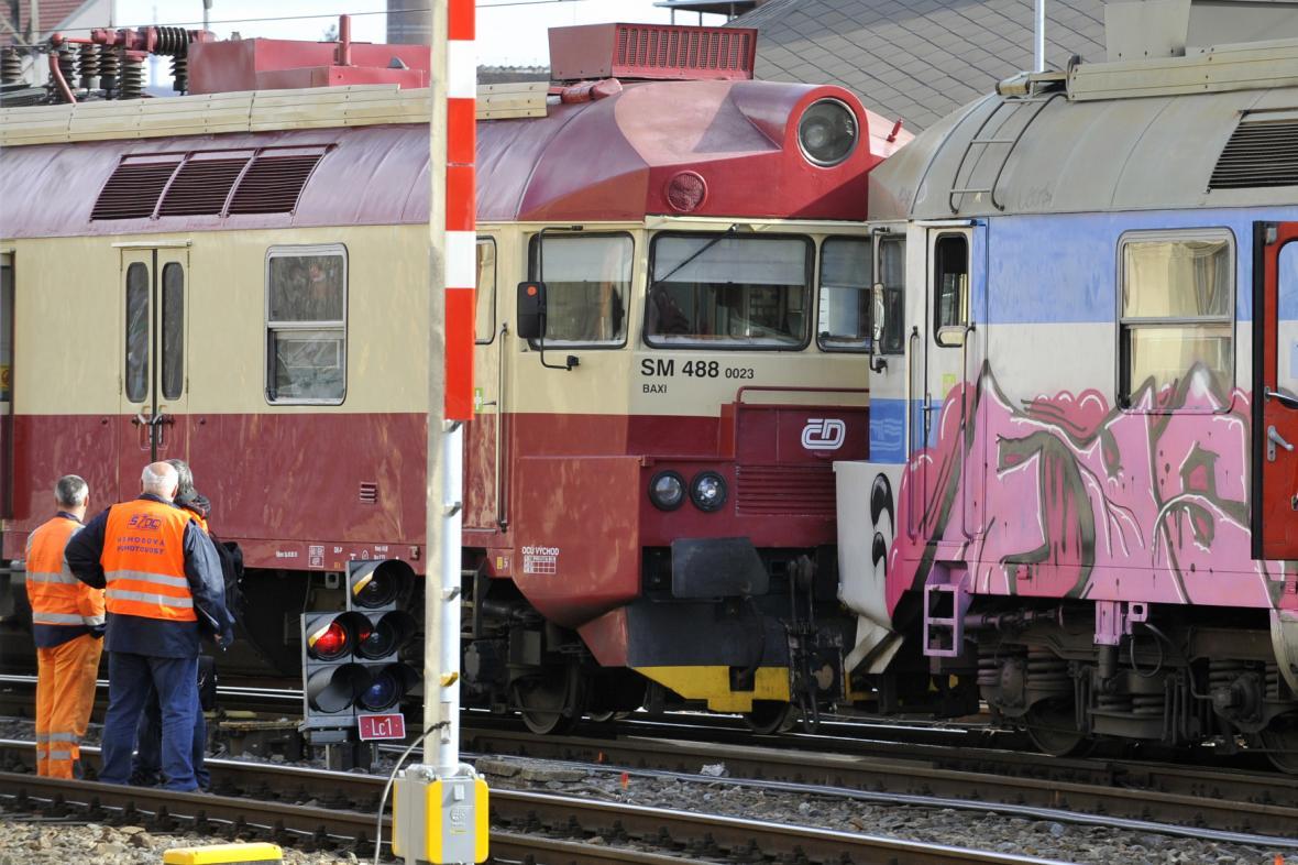 Srážka vlaků na hlavním nádraží v Brně (5.3.2019)