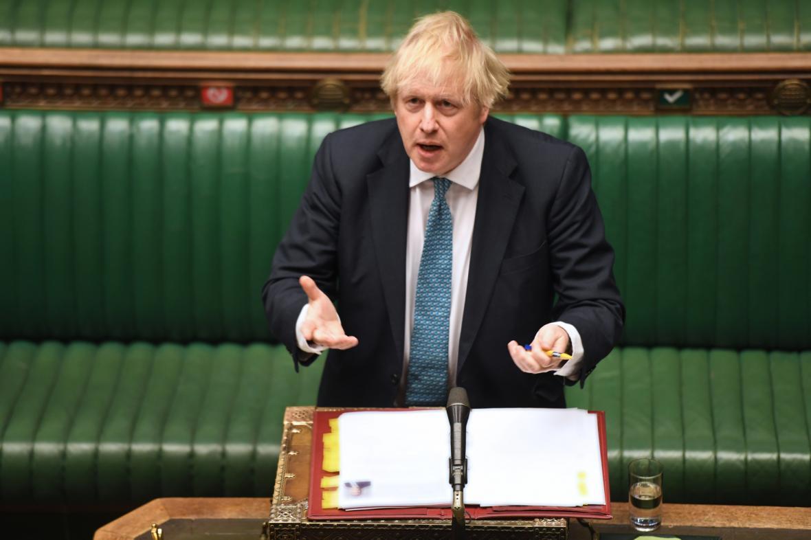 Premiér Johnson ve sněmovně