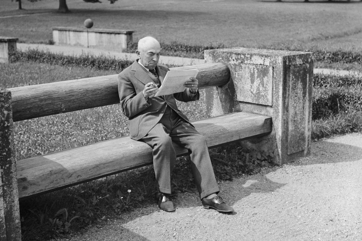 Emil Hácha na fotografii z roku 1942