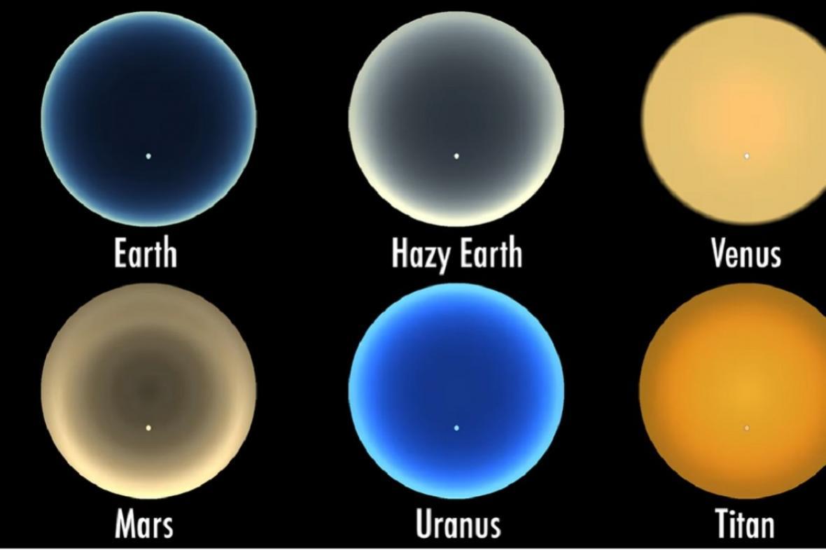 Soumrak na různých tělesech Sluneční soustavy