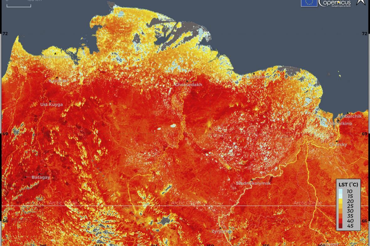 Teploty na Sibiři
