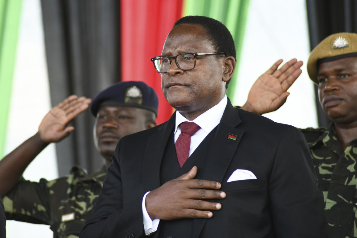 Vítěz prezidentských voleb v Malawi Lazarus Chakwera