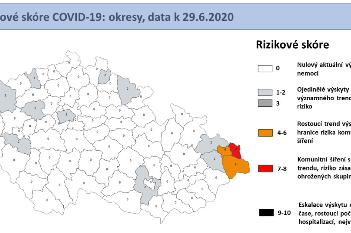 Aktuální epidemiologická situace v regionech Česka