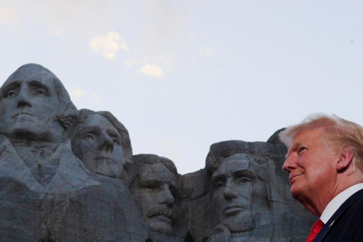 Donald Trump u Mount Rushmore