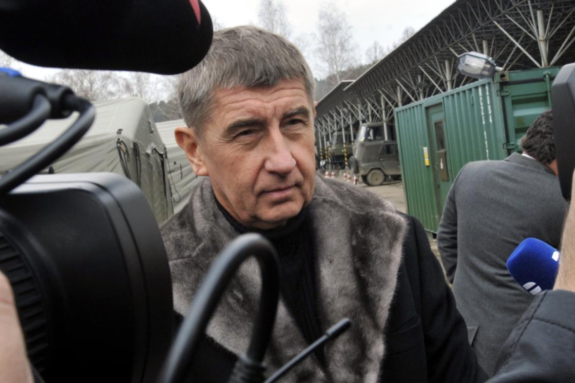 Andrej Babiš (ANO) při návštěvě areálu ve Vrběticích