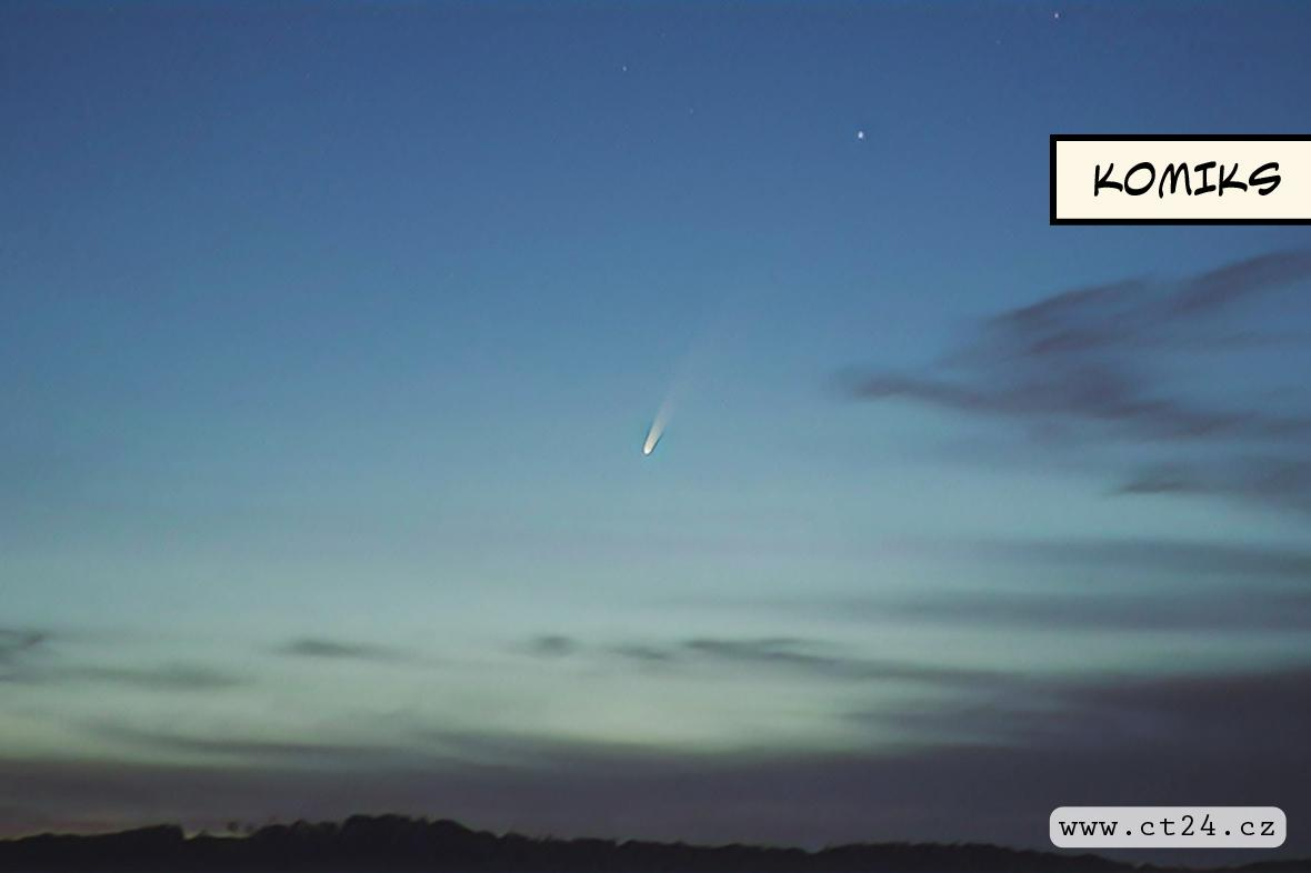 Neobvykle jasná kometa nadchla české astronomy. Za rozbřesku je viditelná i bez speciální techniky