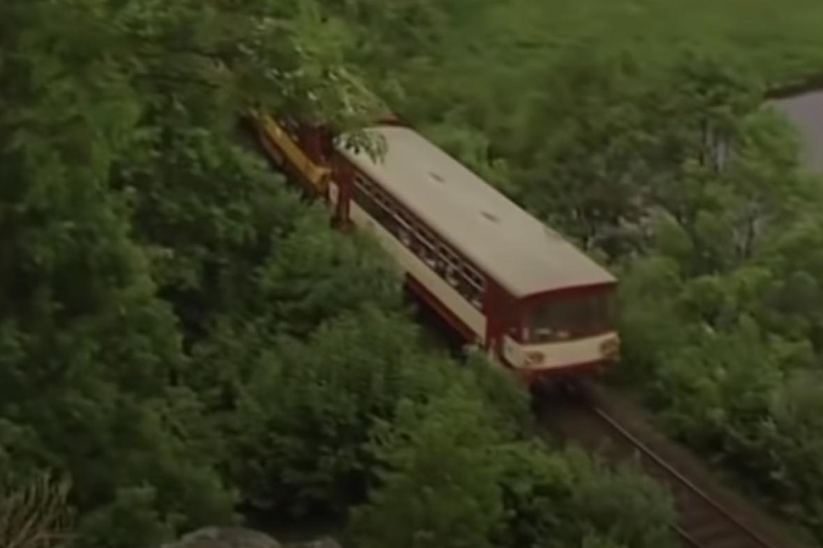 Vlak na trati Strakonice-Volary
