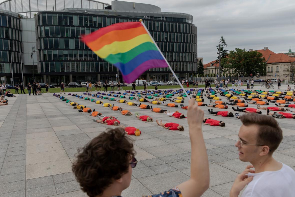 Červnová akce na podporu práv LGBT ve Varšavě