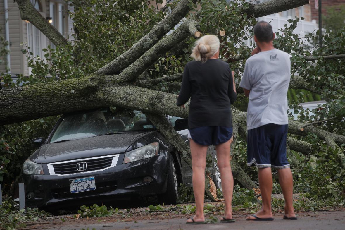 Následky bouře v New Yorku