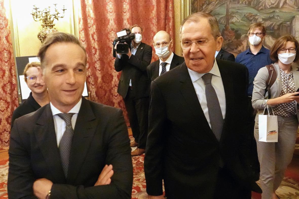 Heiko Mass se Sergejem Lavrovem v Moskvě