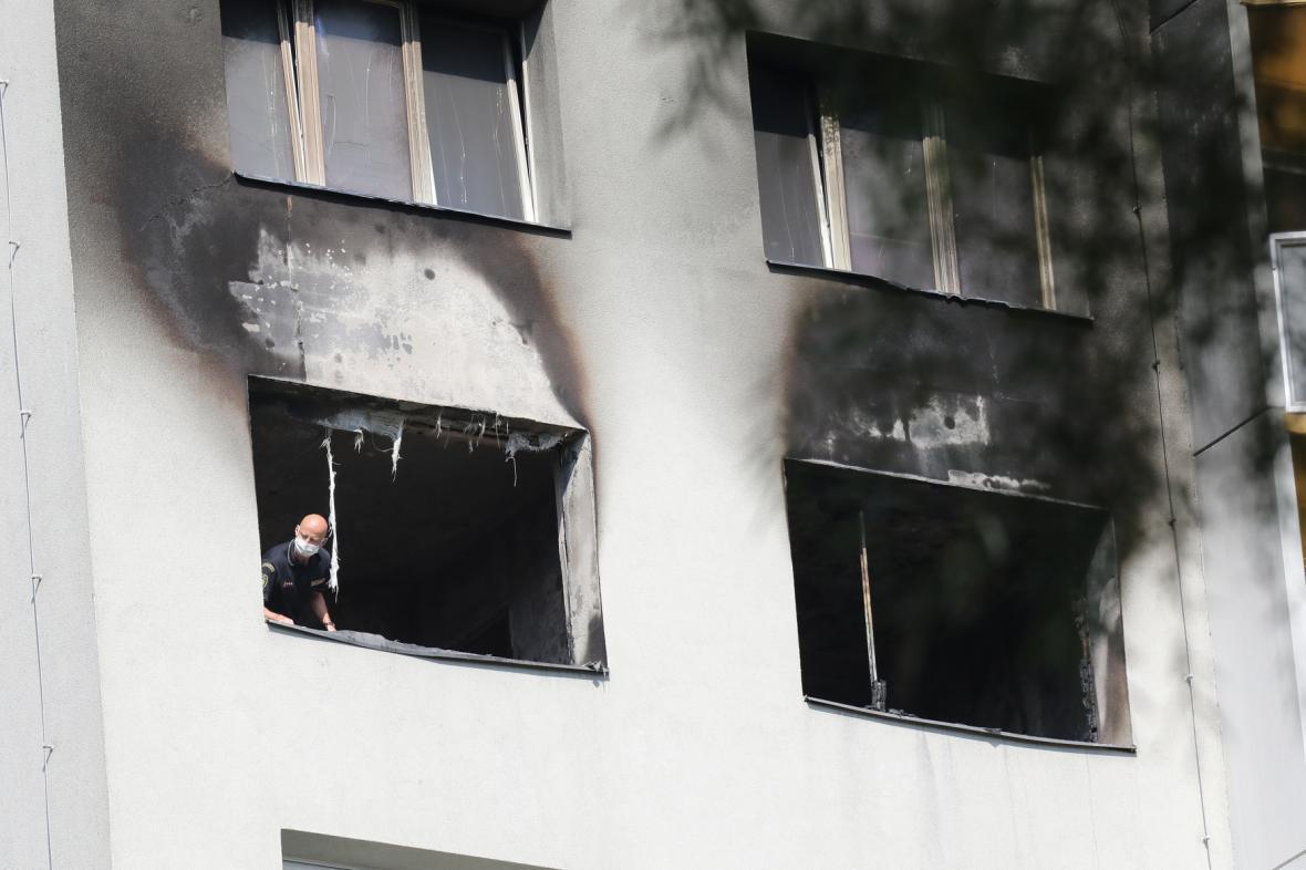 Vyhořelý dům v Bohumíně