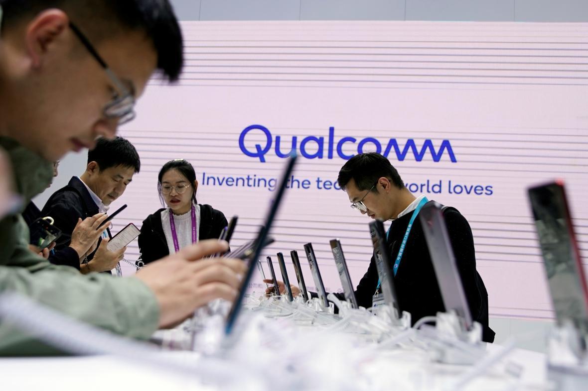 Přítomnost Qualcommu na loňském dovozním expu v Šanghaji