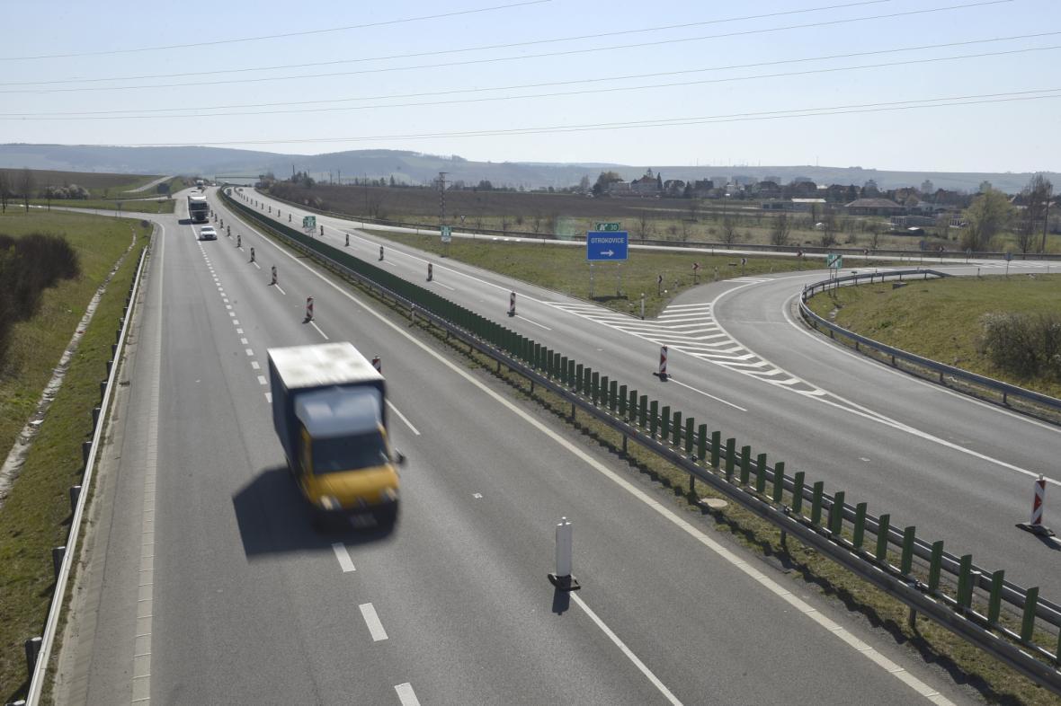 Dálnice D55 u Otrokovic