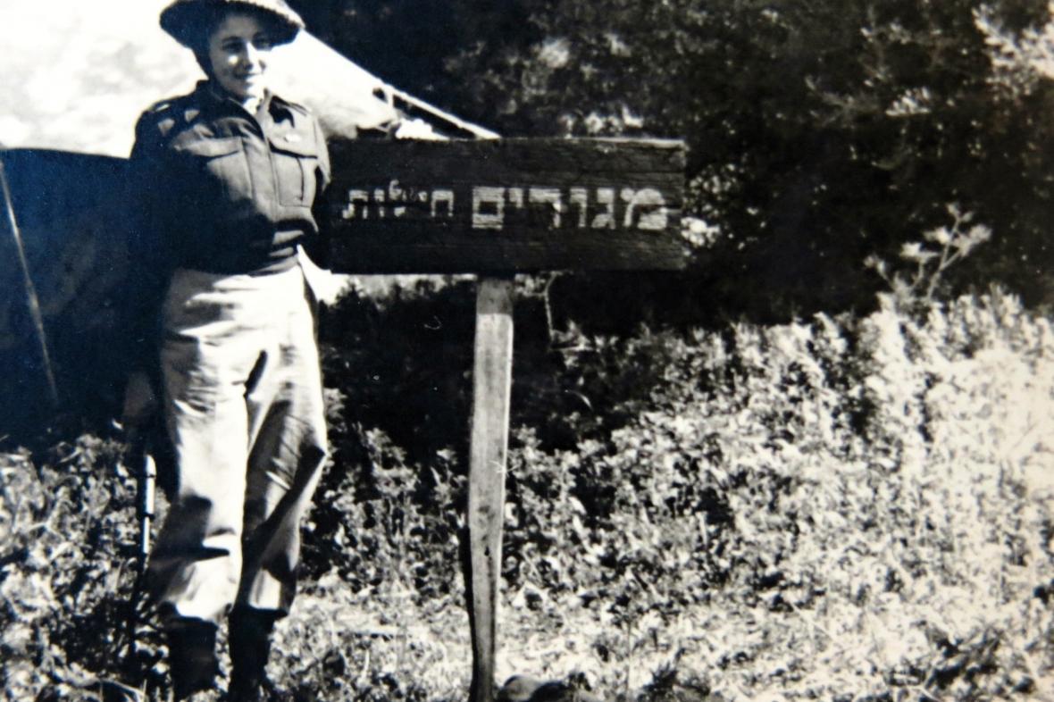 Ruth Meissnerová (Haasová) v izraelské armádě (1949)