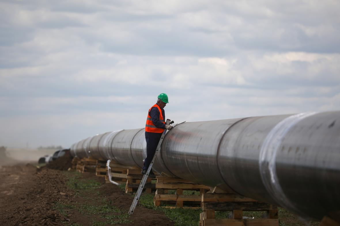 Turecko dnes získává plyn z Ruska přes Blue Stream a TurkStream (na snímku jeho bulharská část)