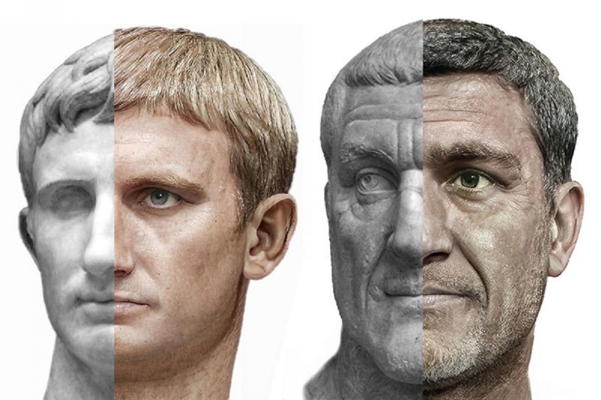 Císařové Augustus a Maximus Thrax