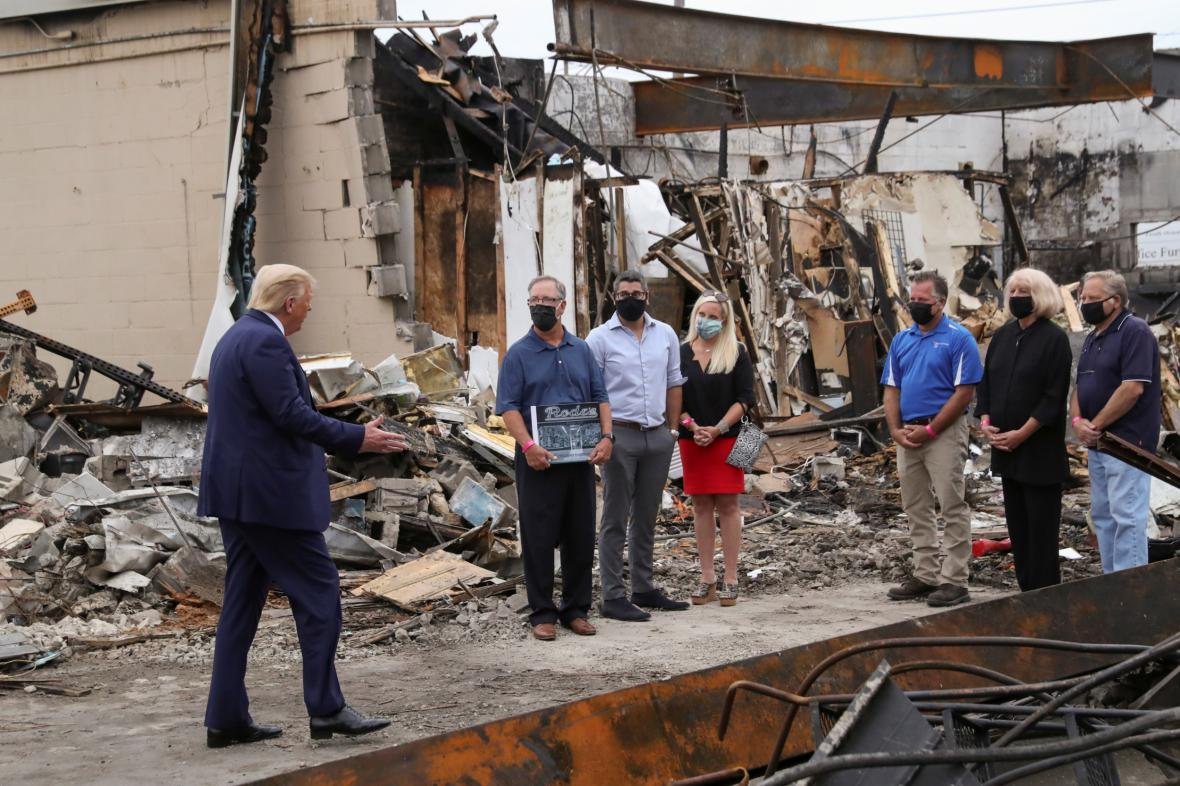 Donald Trump ve městě Kenosha