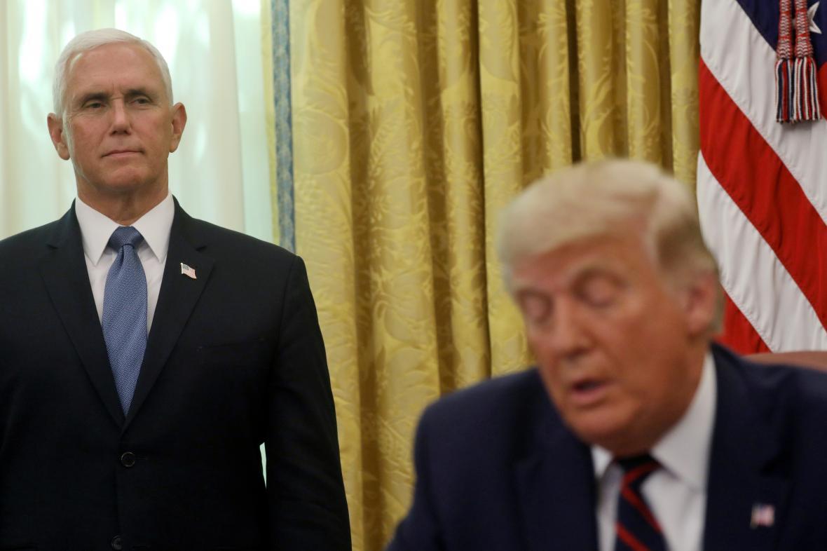 Viceprezident USA Mike Pence s Donaldem Trumpem