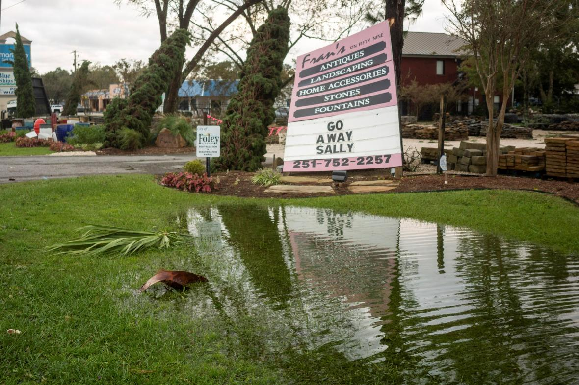 Bouře Sally zasáhla Alabamu