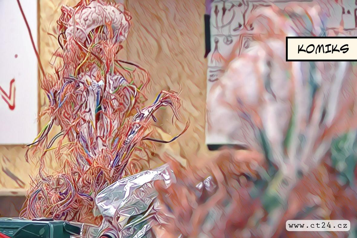 Odpad vyprodukovaný moderní civilizací, přetvořený v umění. Český umělec vystavuje i v Británii