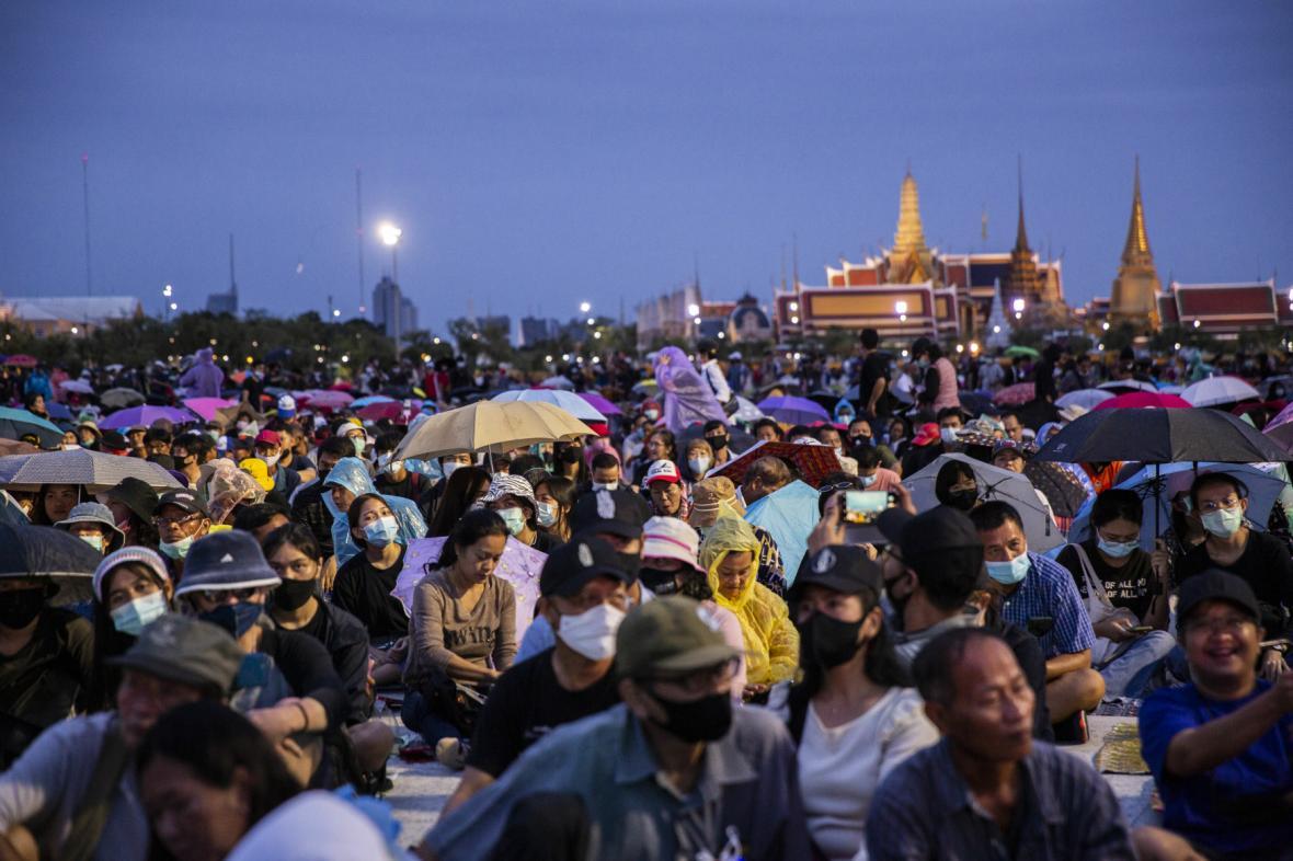 Protivládní shromáždění v Bangkoku