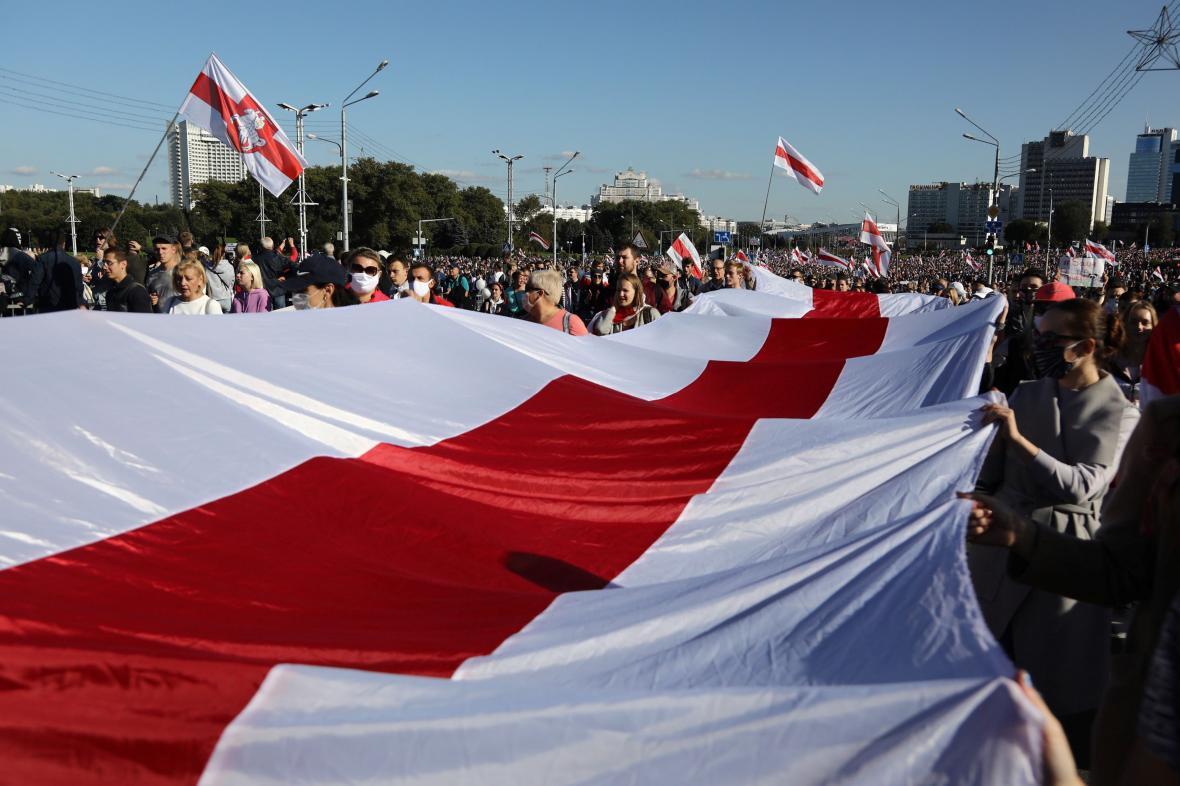 Nedělní demonstrace v Minsku