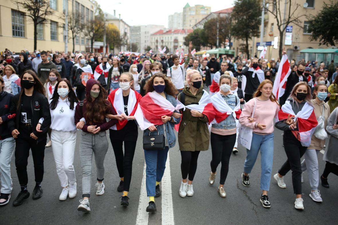 Osmý týden pokračují v Bělorusku protesty