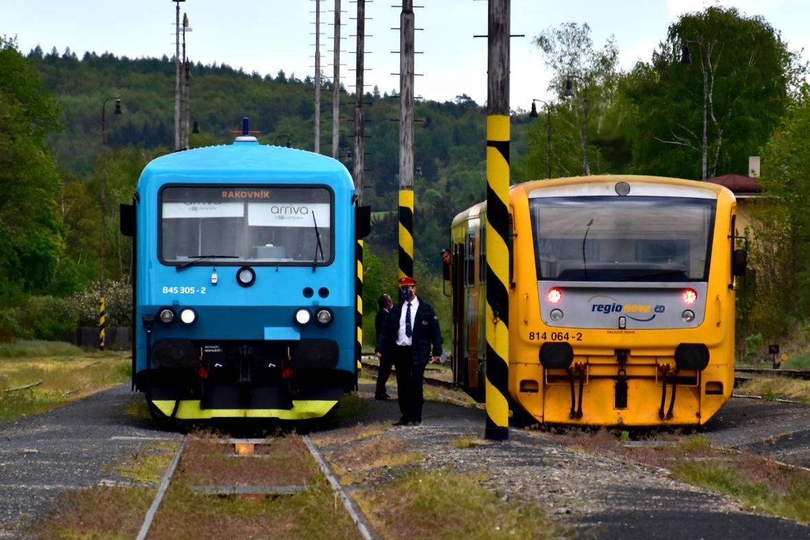 Vlaky Arrivy a Českých drah