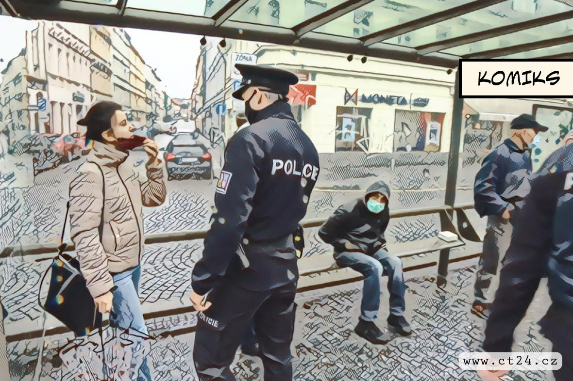 Policie kontroluje dodržování opatření
