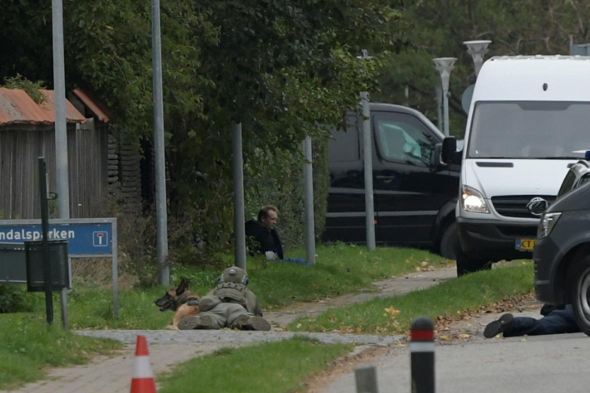 Peter Madsen v policejním obklíčení